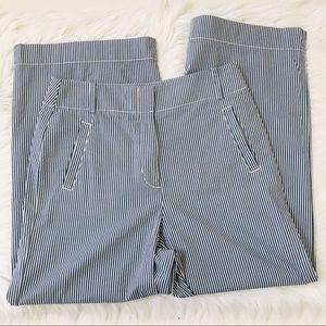 Ann Taylor Loft Seersucker Cropped Pants Sz 6
